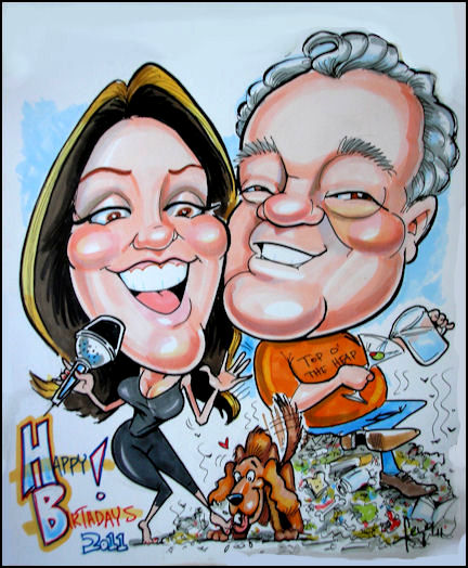 ... gift caricature Caricature by Eyer ...