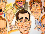 The Office Steve Carrell caricature